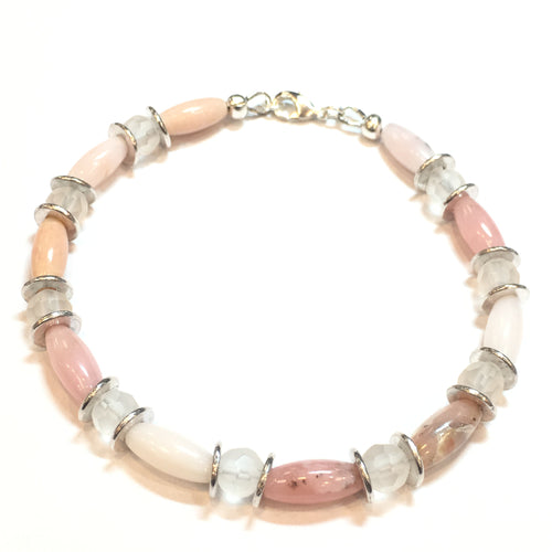 Peruvian Pink Opal Bracelet - Real Chic Boutique  - 1