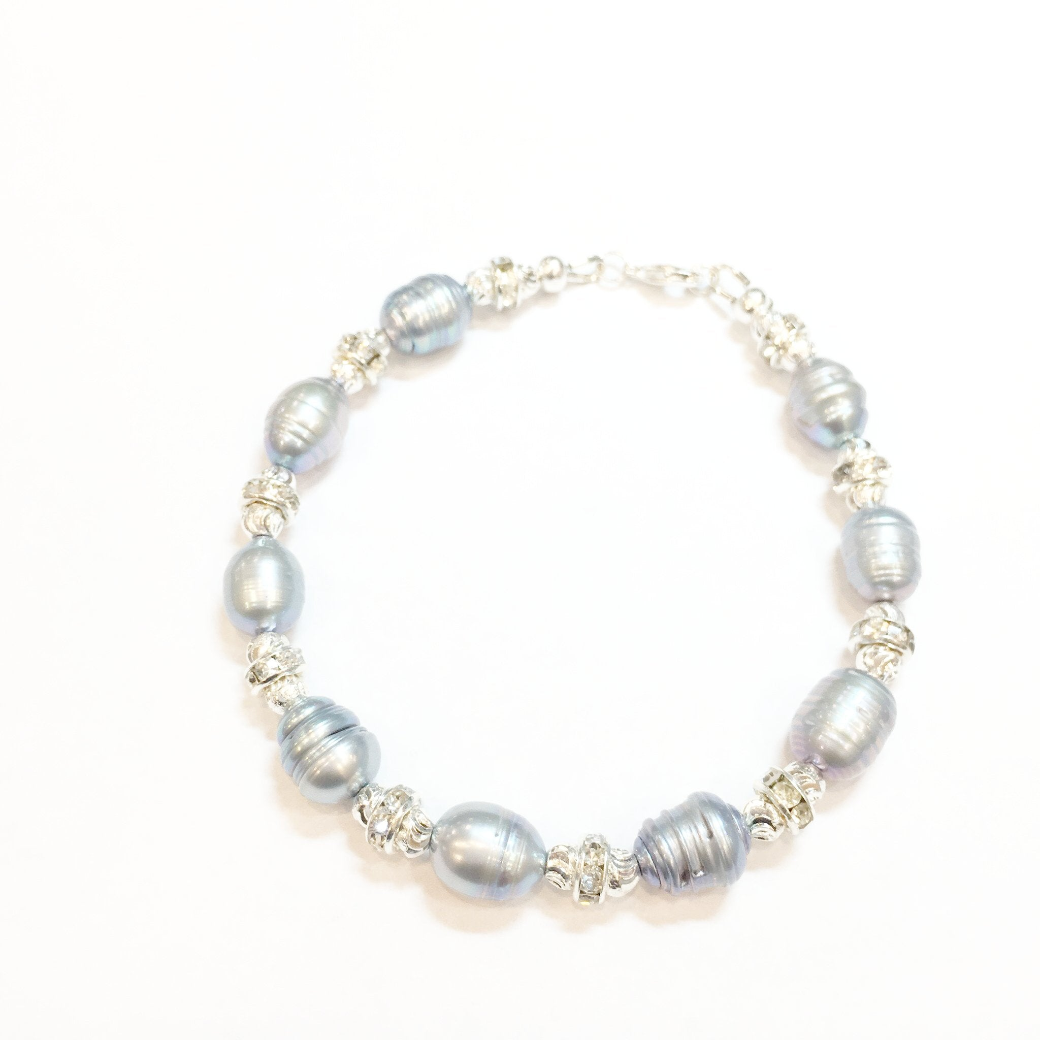 Fresh Water Pearl and Swarovski Bracelet - Real Chic Boutique  - 1