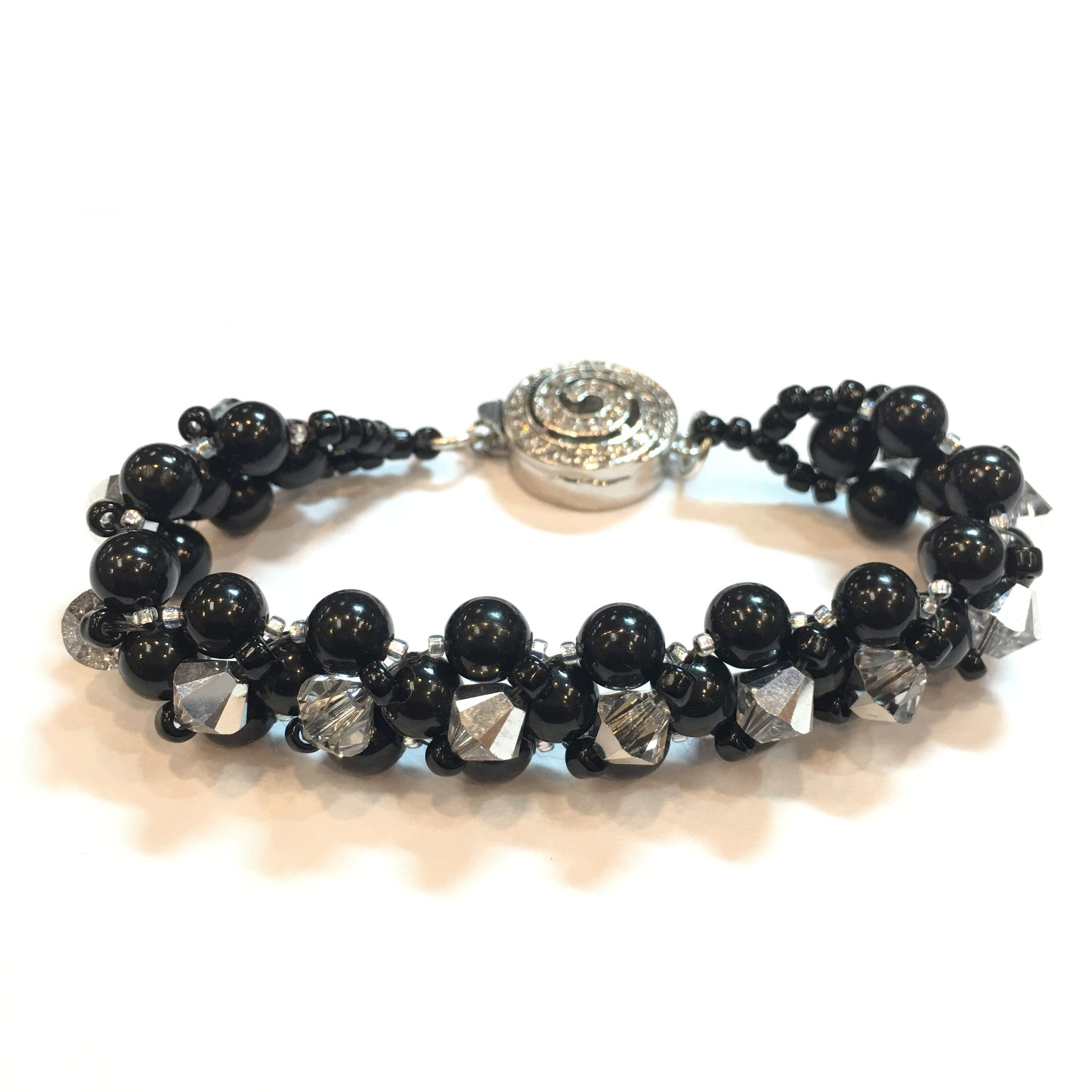 Swarovski Black Pearl and Crystal Bracelet - Real Chic Boutique  - 1