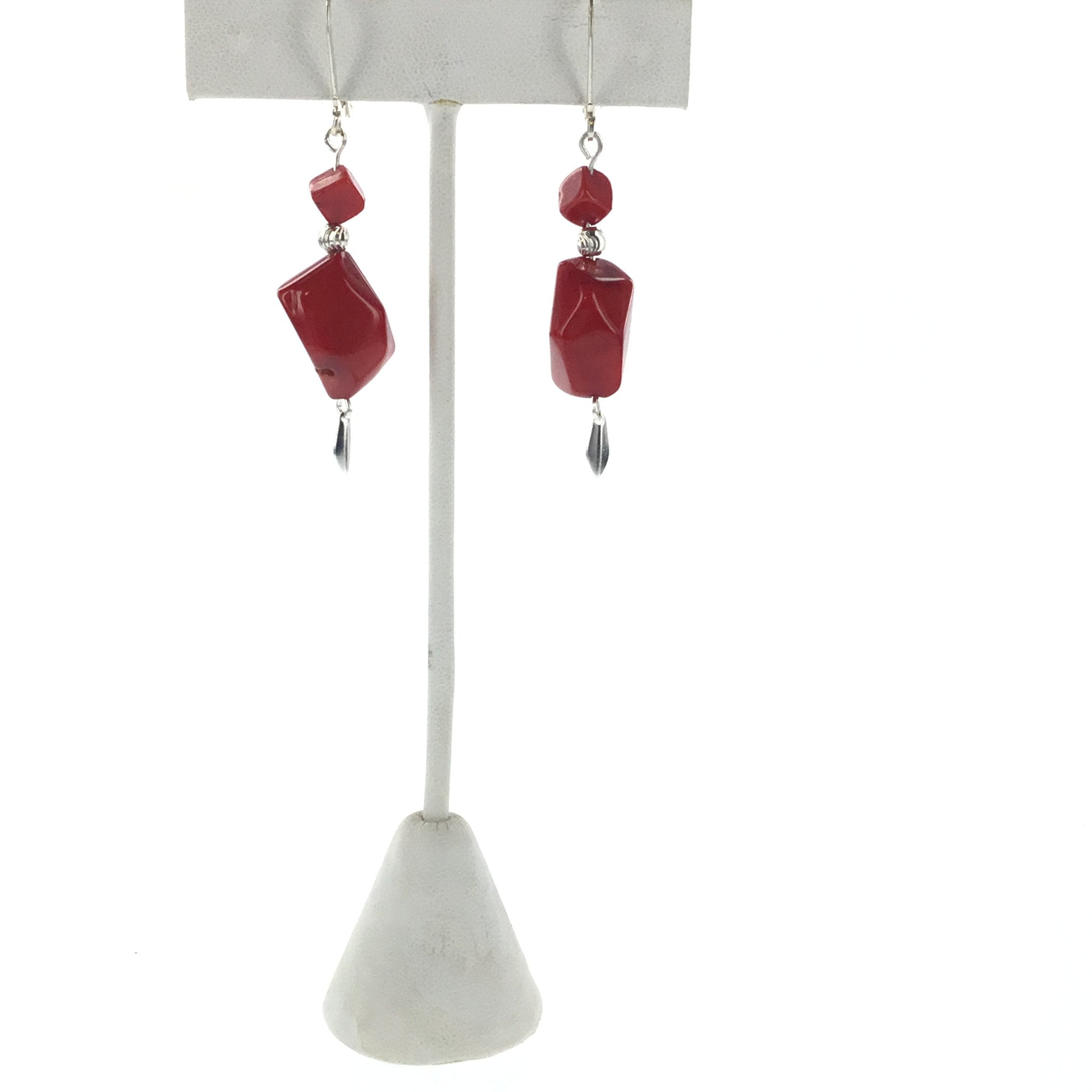 Red Coral Earring - Real Chic Boutique  - 2
