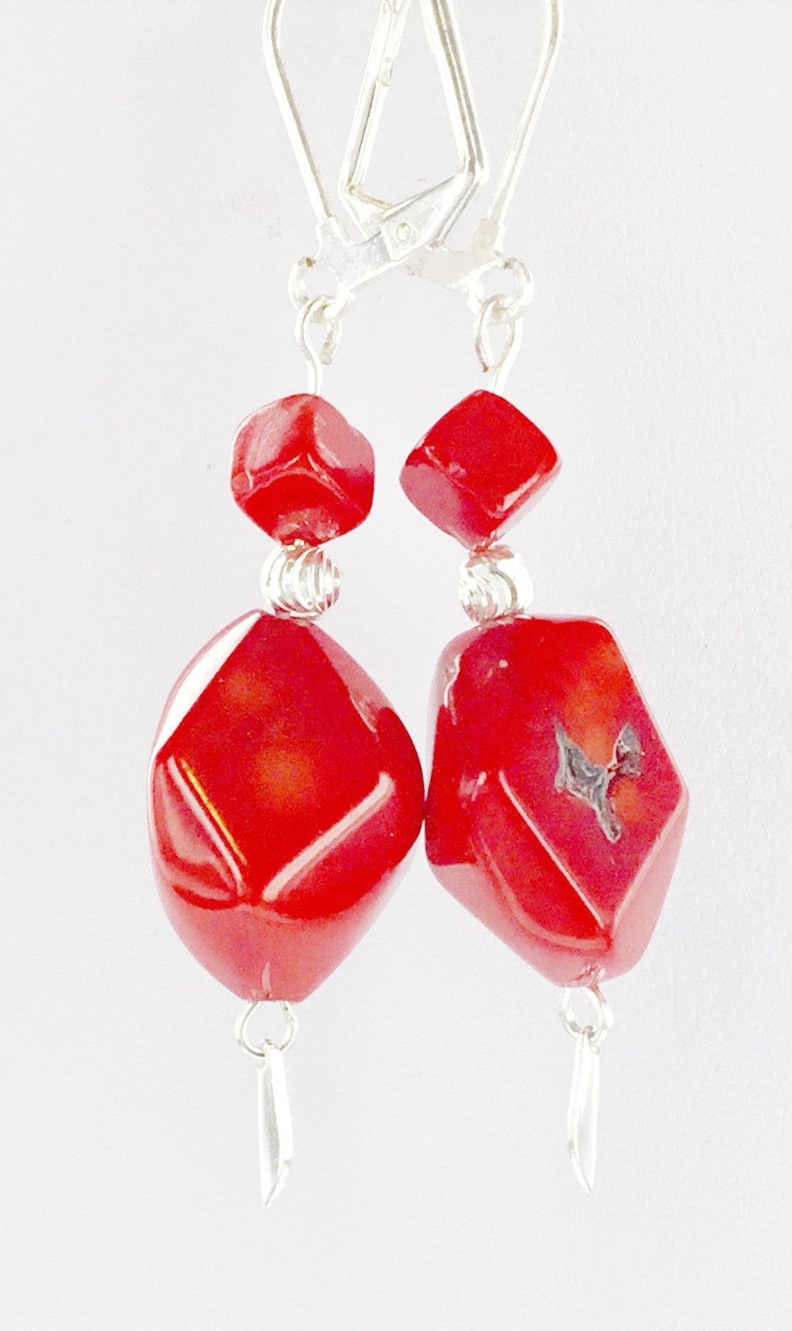 Red Coral Earring - Real Chic Boutique  - 3