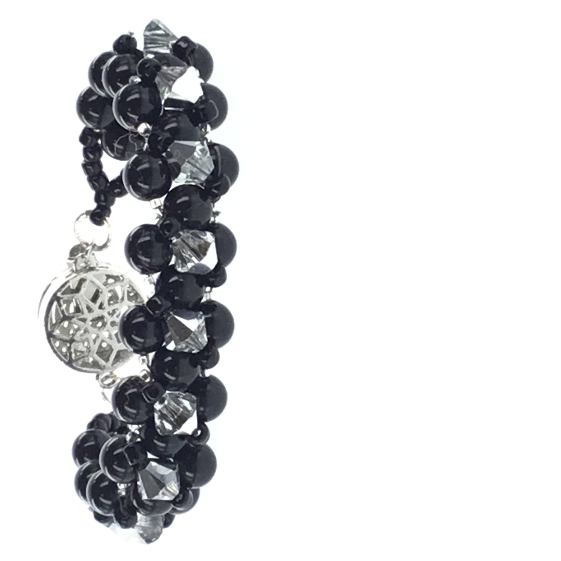 Swarovski Black Pearl and Crystal Bracelet - Real Chic Boutique  - 5