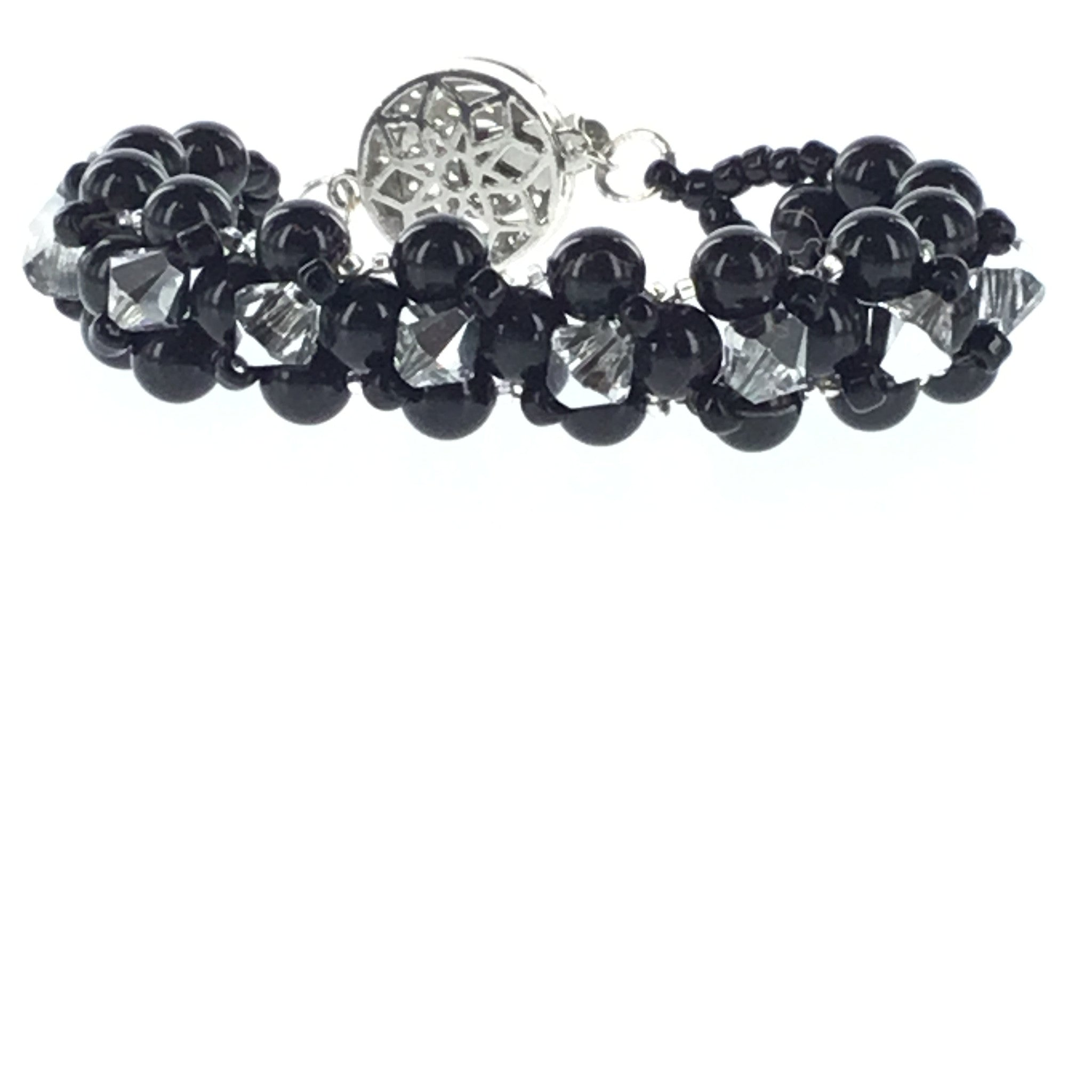 Swarovski Black Pearl and Crystal Bracelet - Real Chic Boutique  - 6