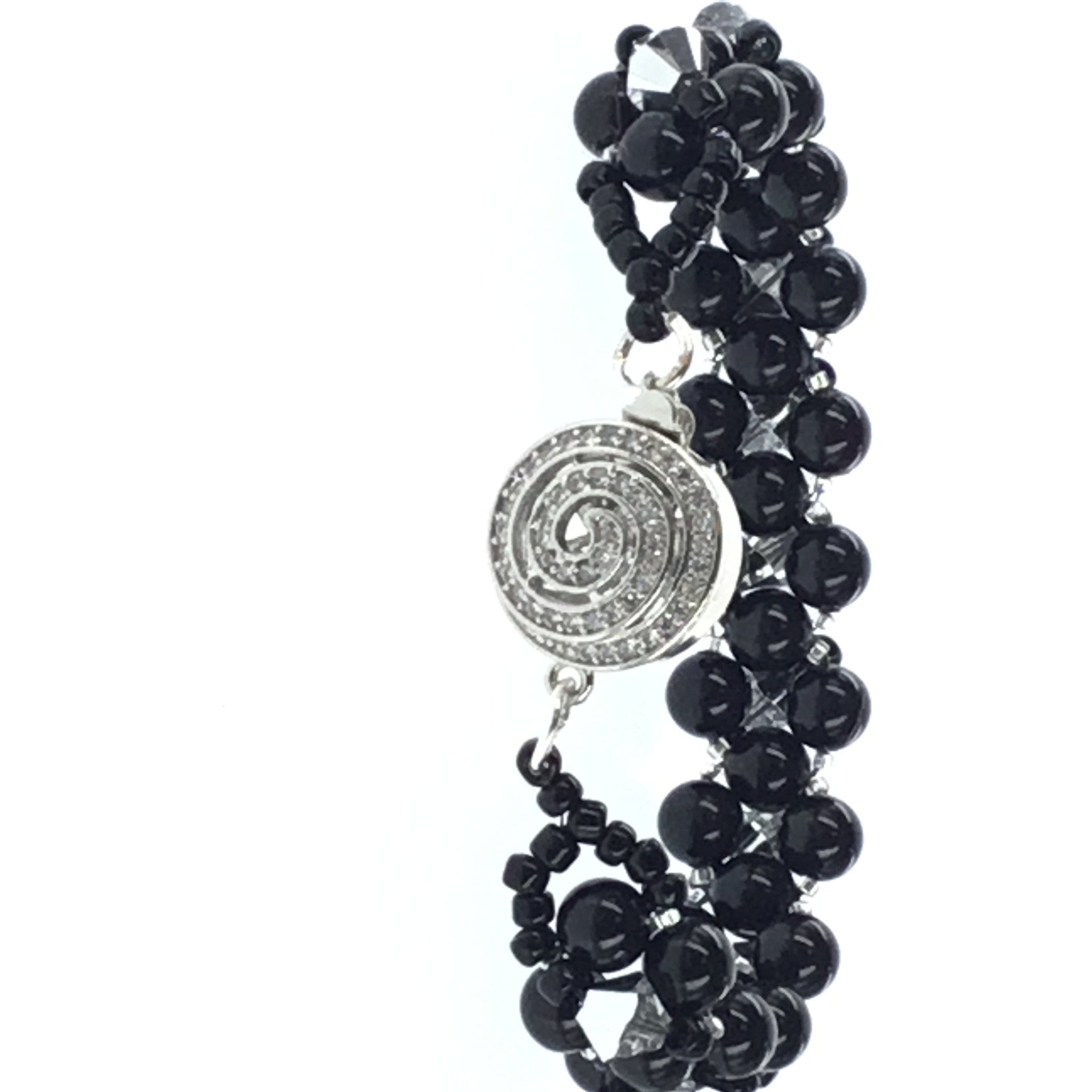 Swarovski Black Pearl and Crystal Bracelet - Real Chic Boutique  - 2