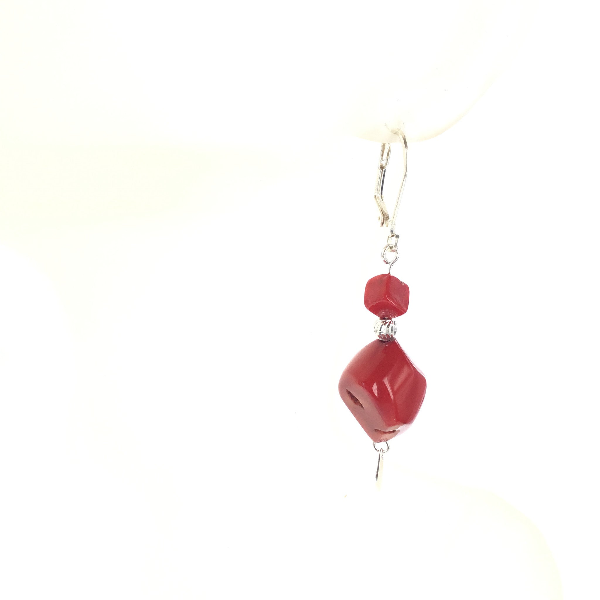 Red Coral Earring - Real Chic Boutique  - 1