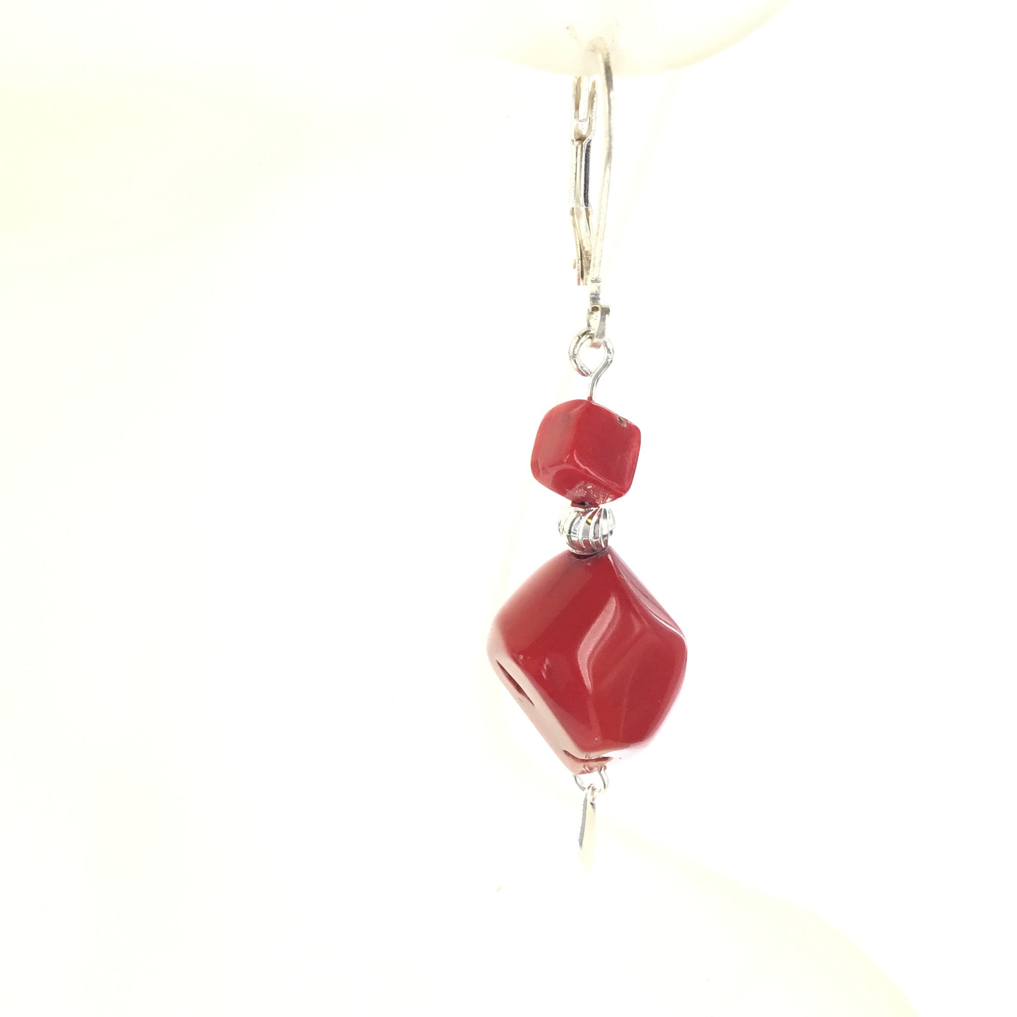 Red Coral Earring - Real Chic Boutique  - 4