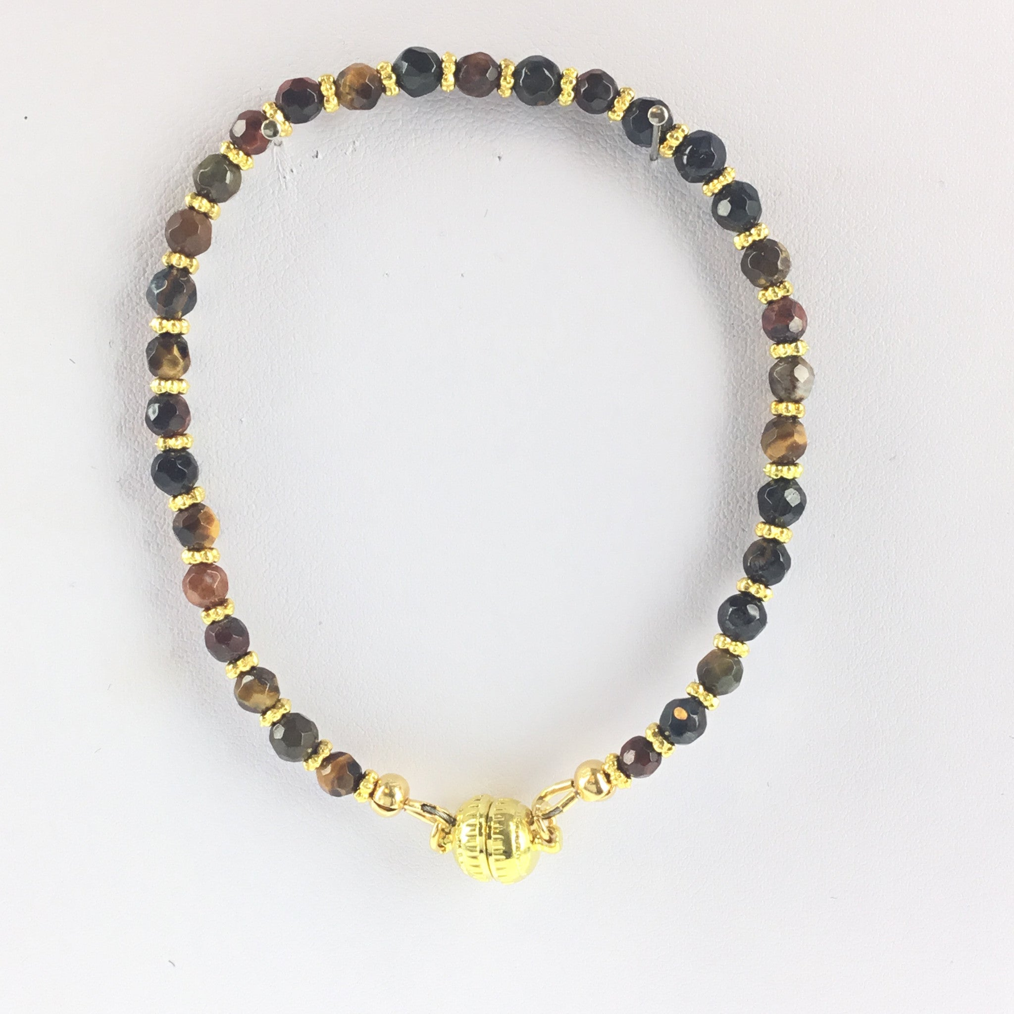 Tiger-Eye and Gold Bracelet - Real Chic Boutique  - 2