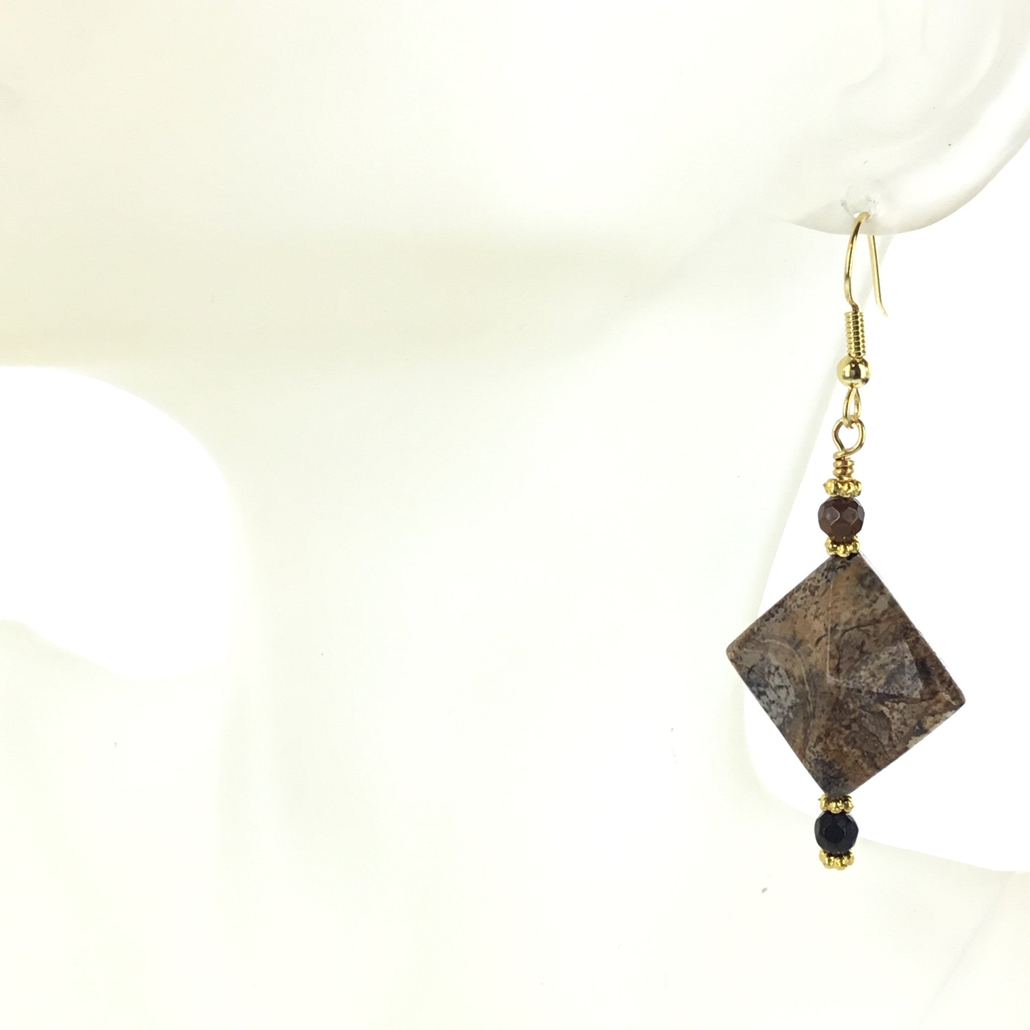 Picture Jasper and Black Spinel Earring - Real Chic Boutique  - 1