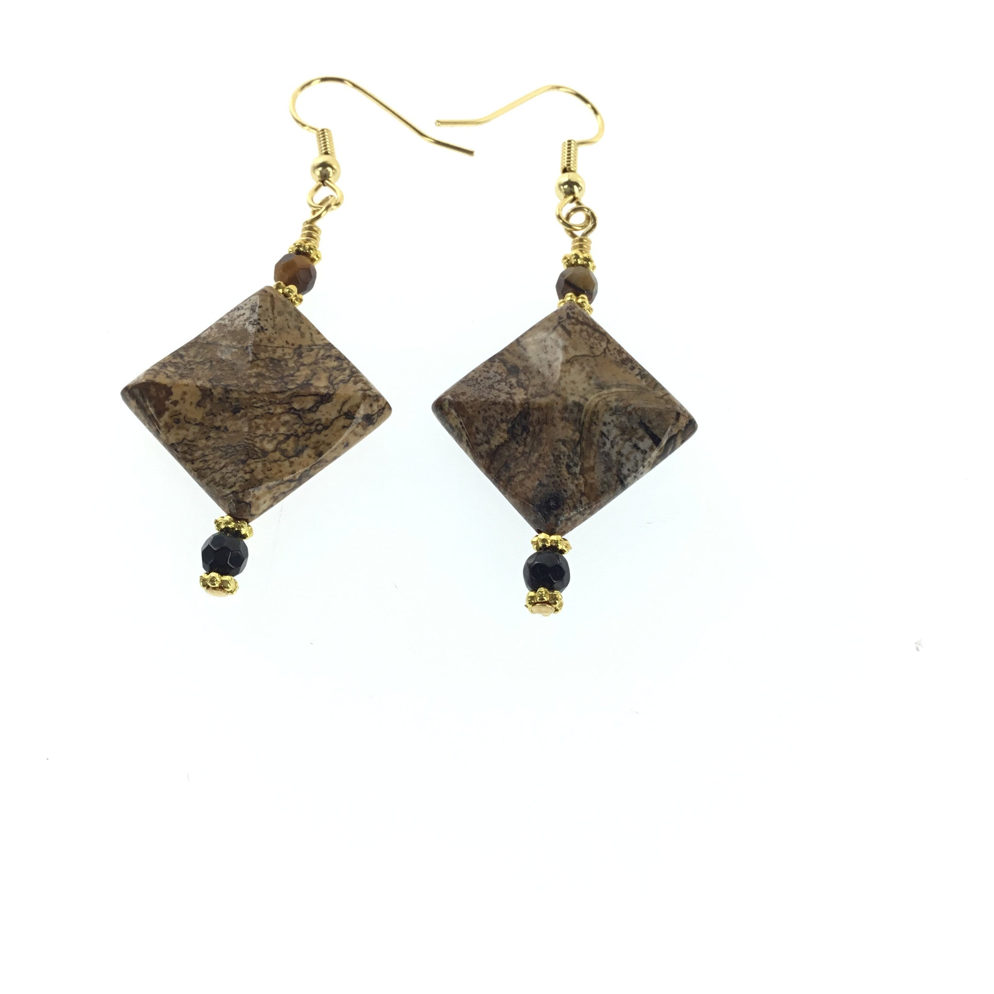 Picture Jasper and Black Spinel Earring - Real Chic Boutique  - 2