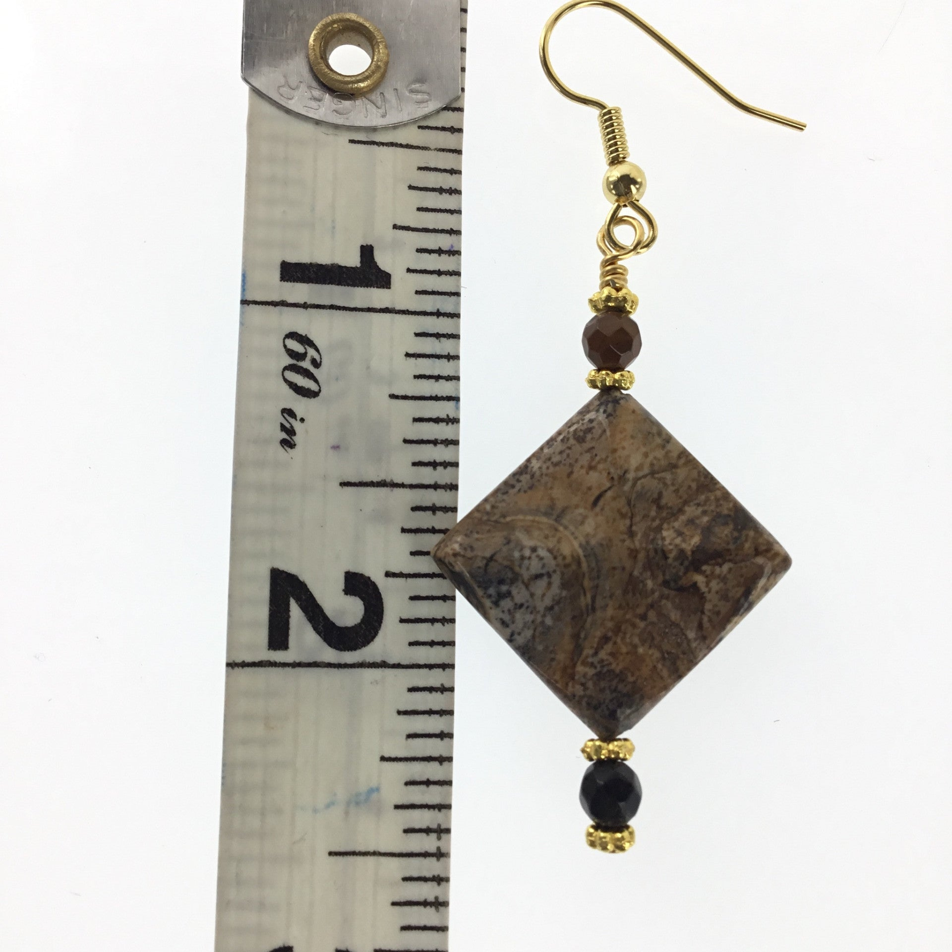Picture Jasper and Black Spinel Earring - Real Chic Boutique  - 3