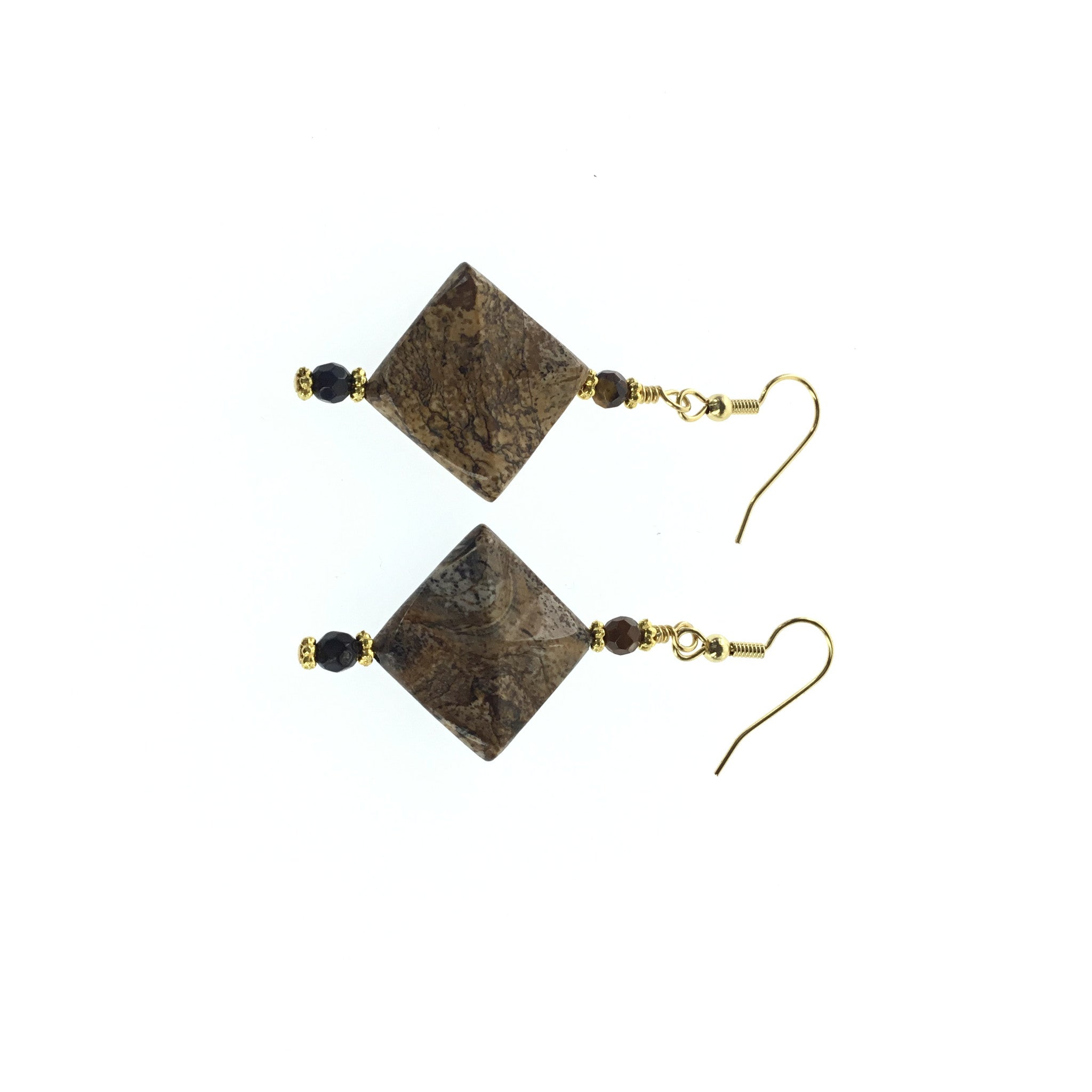 Picture Jasper and Black Spinel Earring - Real Chic Boutique  - 4