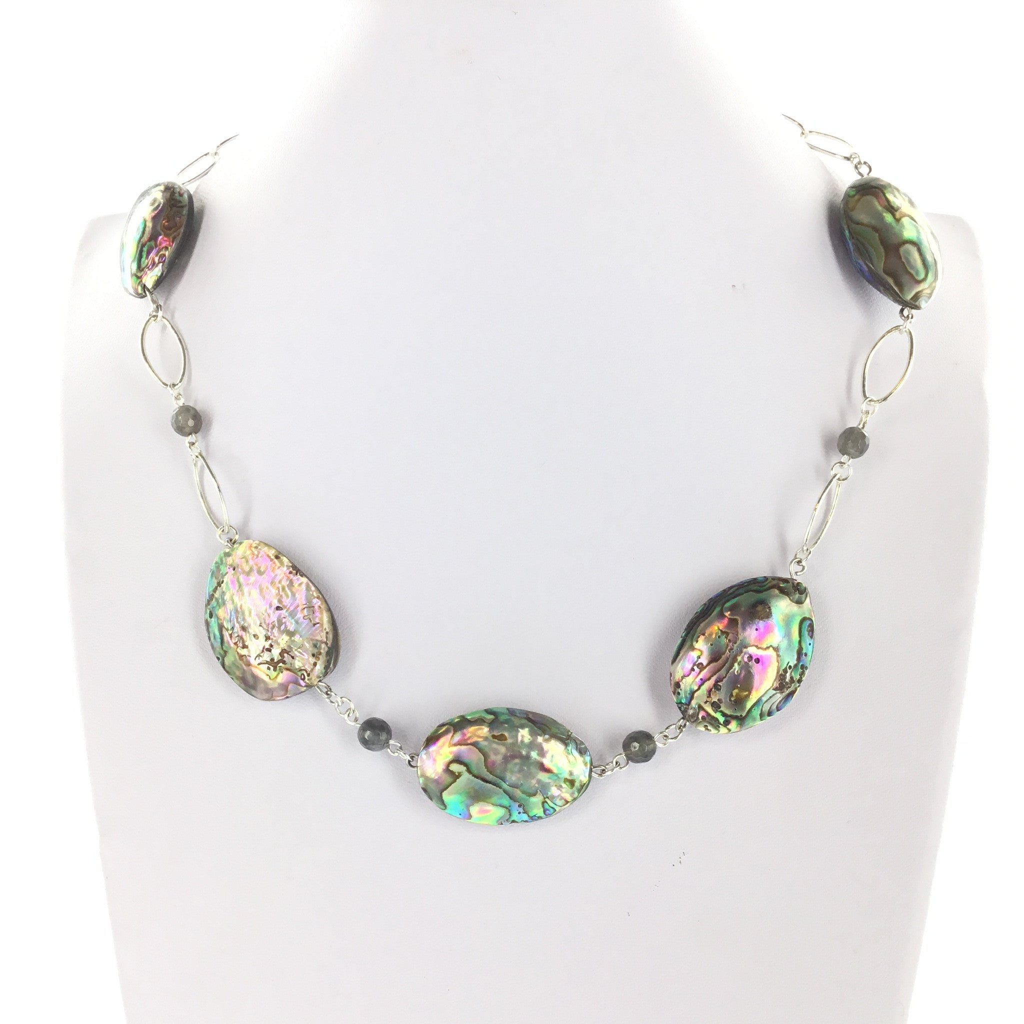Abalone and Labradorite Necklace - Real Chic Boutique  - 2