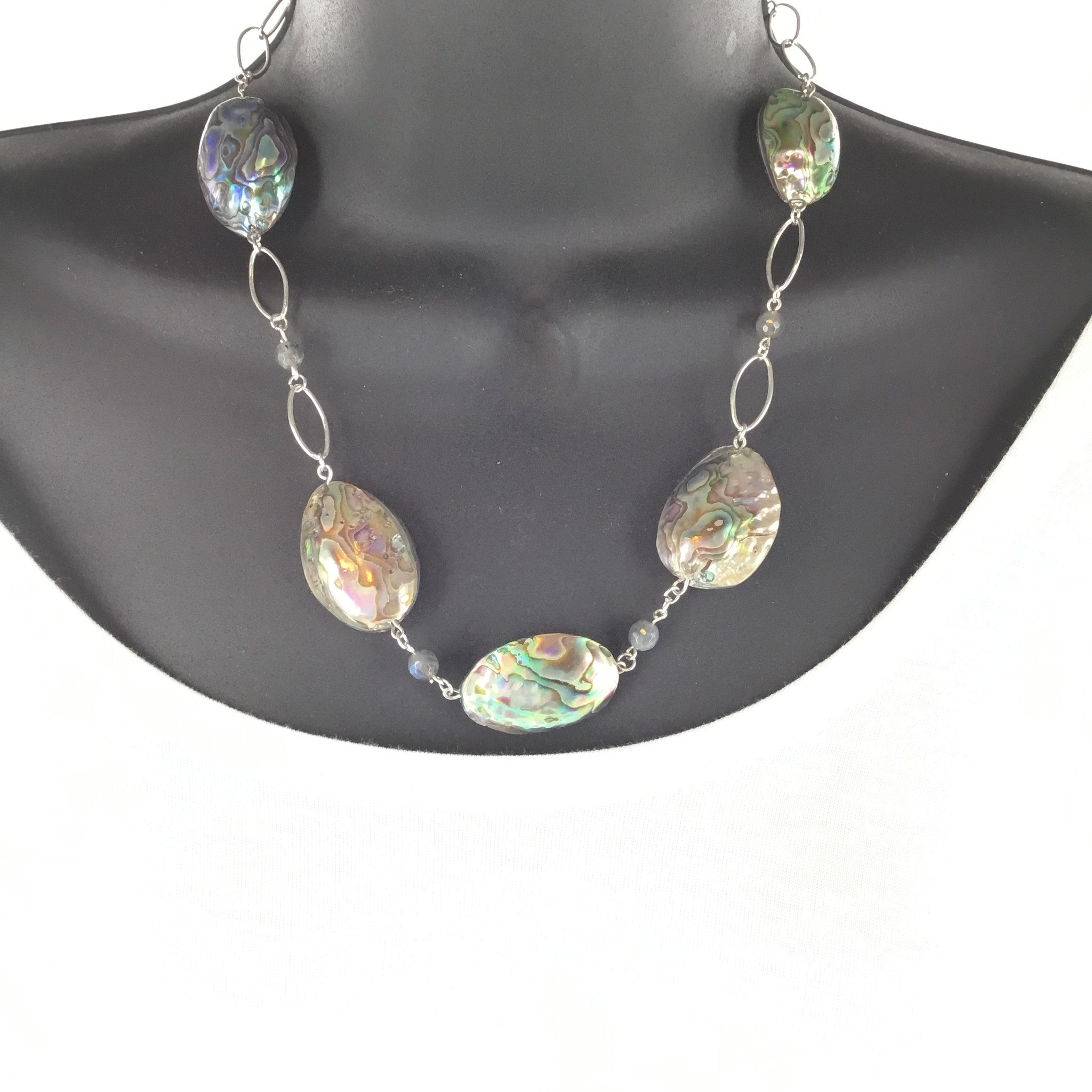 Abalone and Labradorite Necklace - Real Chic Boutique  - 3