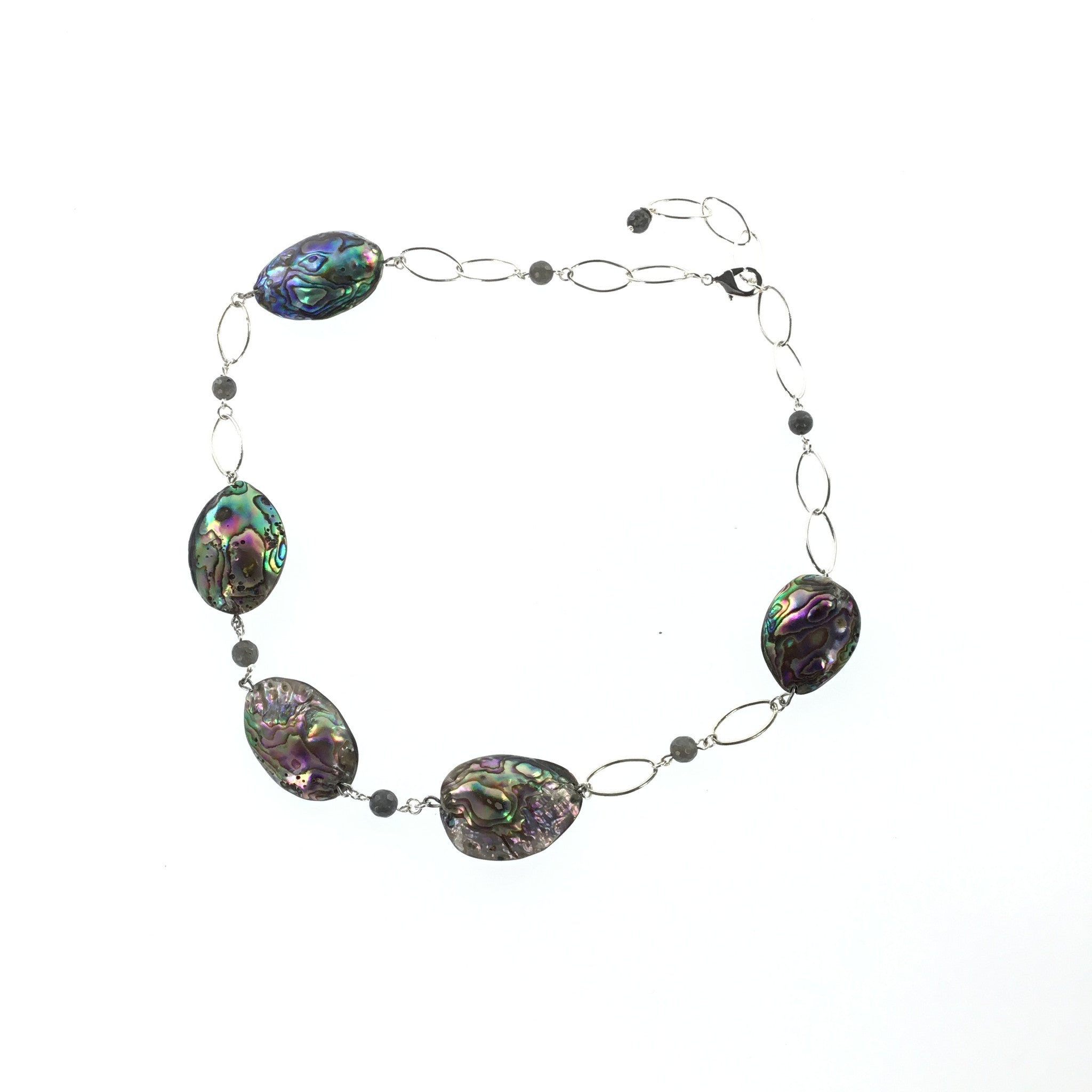 Abalone and Labradorite Necklace - Real Chic Boutique  - 4