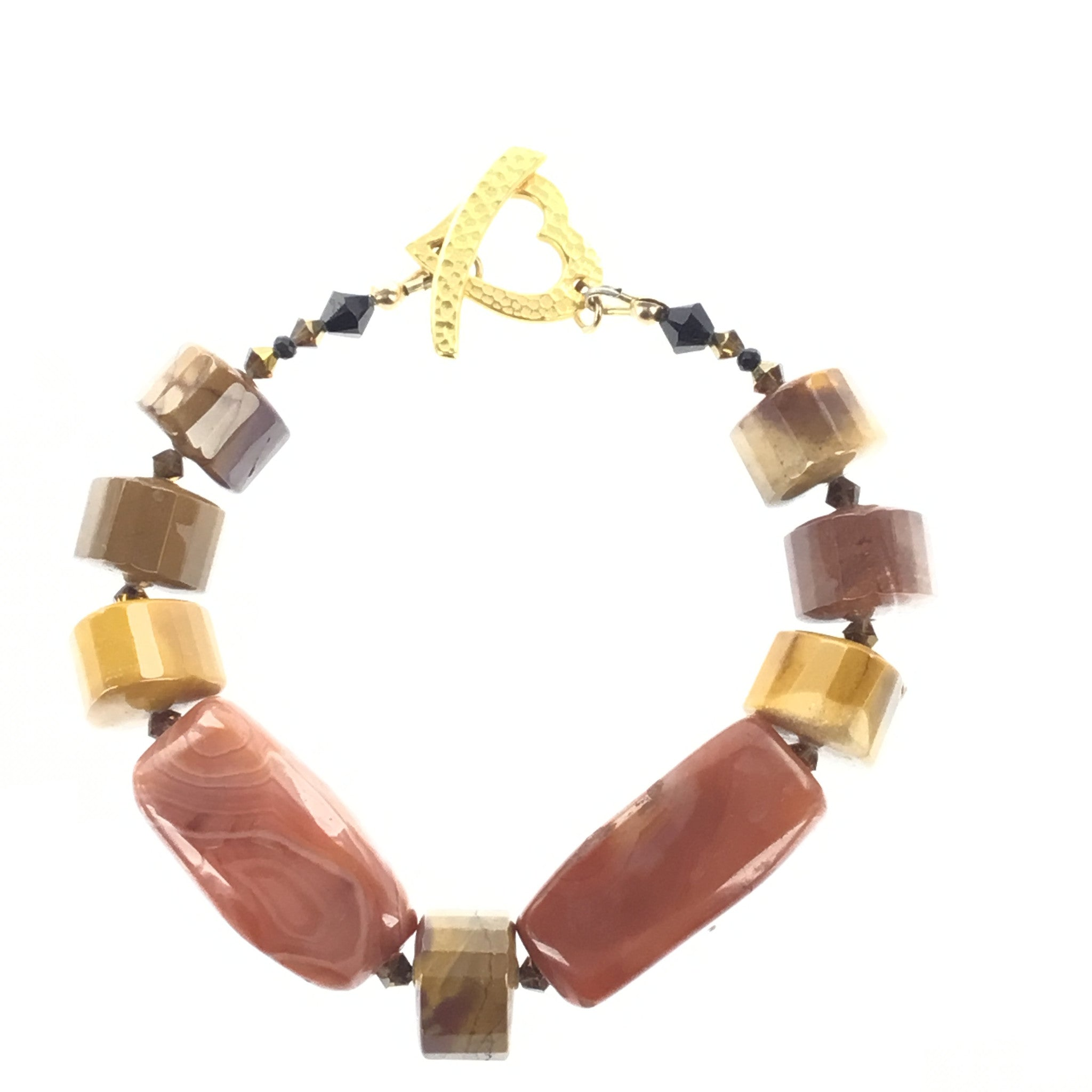 Agate and Mookaite Bracelet