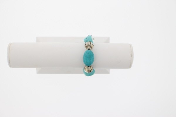 Turquoise and Black Agate Bracelet - Real Chic Boutique  - 3
