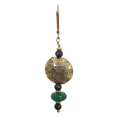 Green and Black Onyx Drop Earring - Real Chic Boutique  - 1