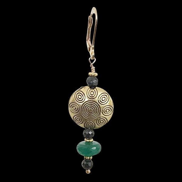 Green and Black Onyx Drop Earring - Real Chic Boutique  - 2