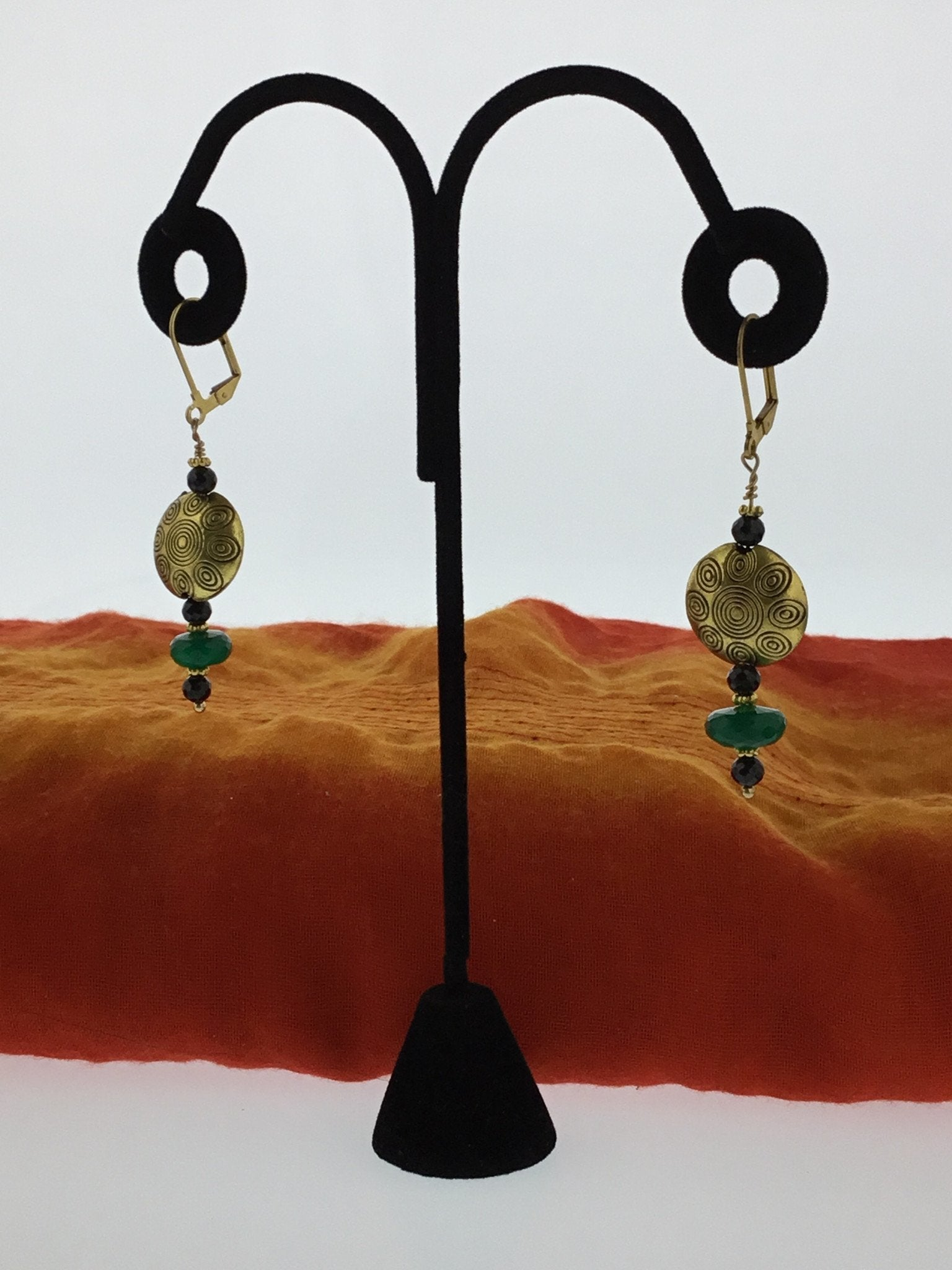Green and Black Onyx Drop Earring - Real Chic Boutique  - 3
