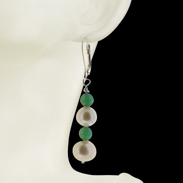 Pearl and Jade Earring - Real Chic Boutique  - 3