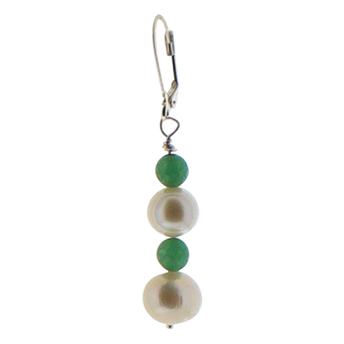 Pearl and Jade Earring - Real Chic Boutique  - 1