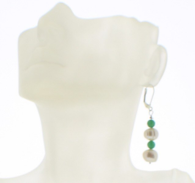 Pearl and Jade Earring - Real Chic Boutique  - 2
