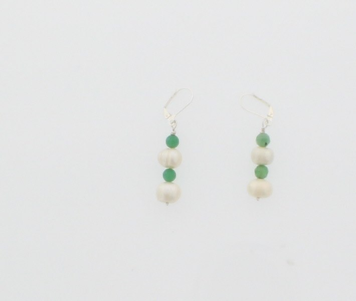 Pearl and Jade Earring - Real Chic Boutique  - 5