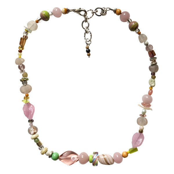 Pink Pastel Murano Glass Necklace - Real Chic Boutique  - 1