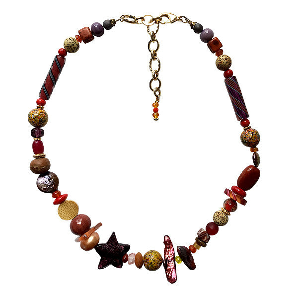 Shades of Red Murano Glass Necklace - Real Chic Boutique  - 1