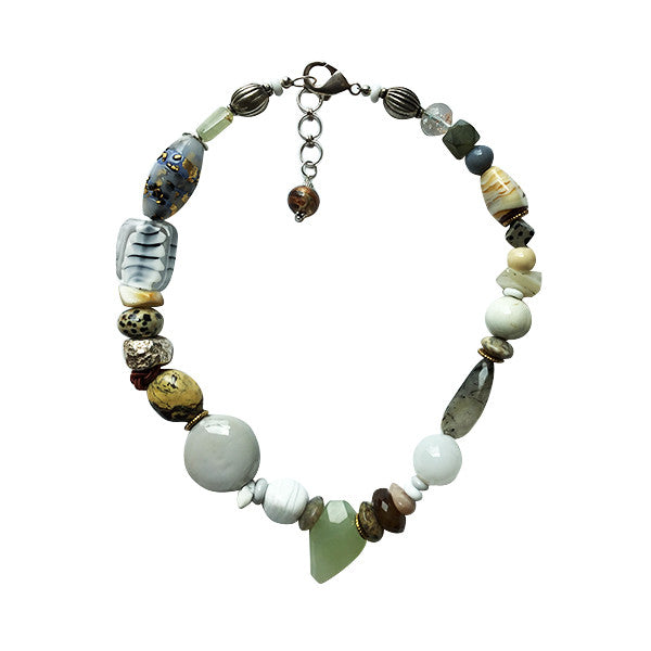 Pastels with Mint Green Murano Glass Necklace - Real Chic Boutique  - 1