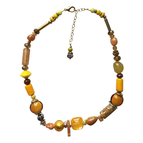 Murano Glass Necklace in Hues of Yellow - Real Chic Boutique  - 1