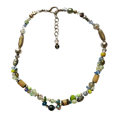 Pastel Green Murano Glass Necklace - Real Chic Boutique  - 1