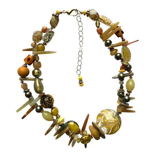 Yellow Murano Glass Necklace - Real Chic Boutique  - 1