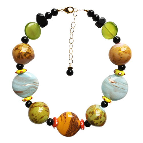 Multi-Color Murano Glass Necklace - Real Chic Boutique  - 1