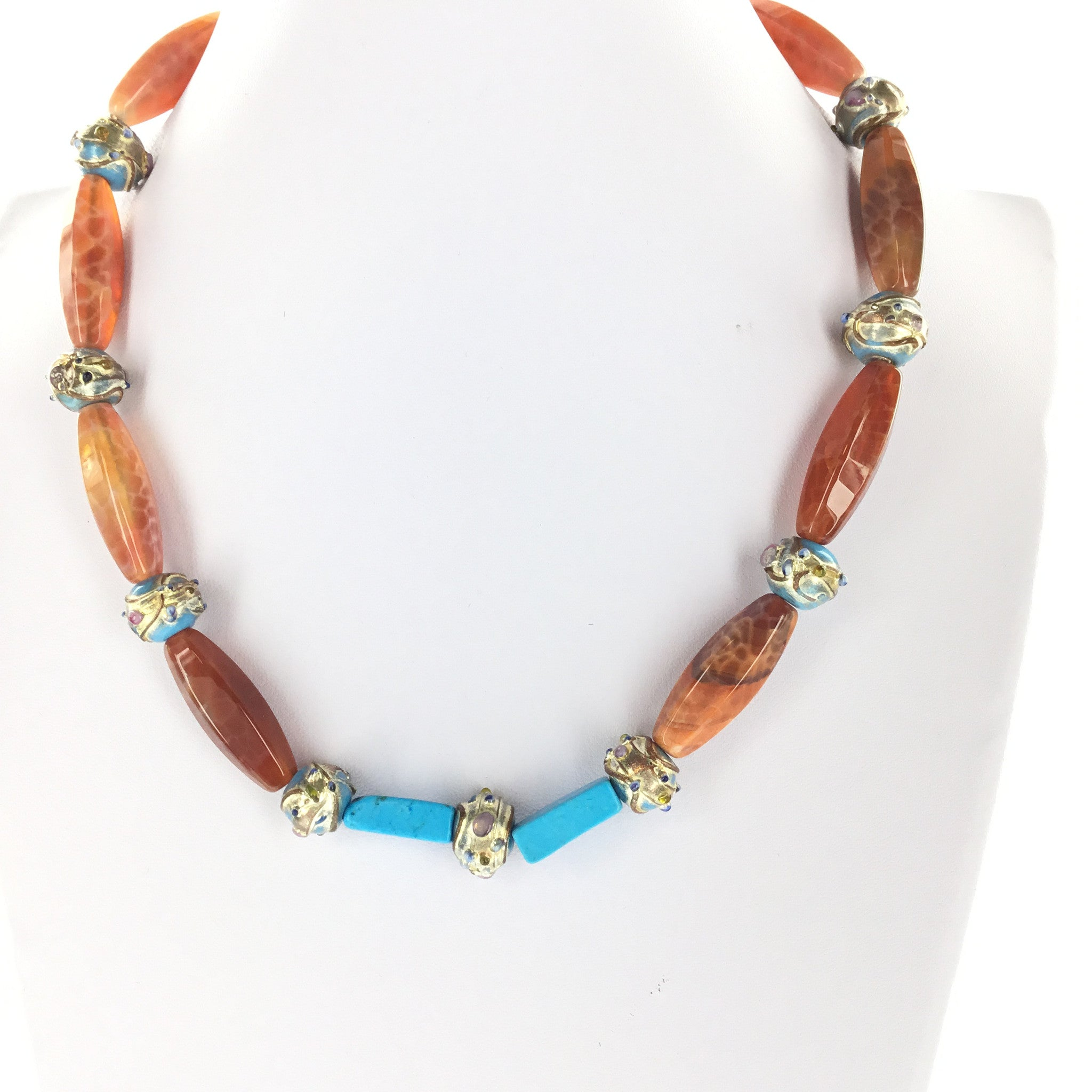 Red Fire Agate Necklace - Real Chic Boutique  - 6