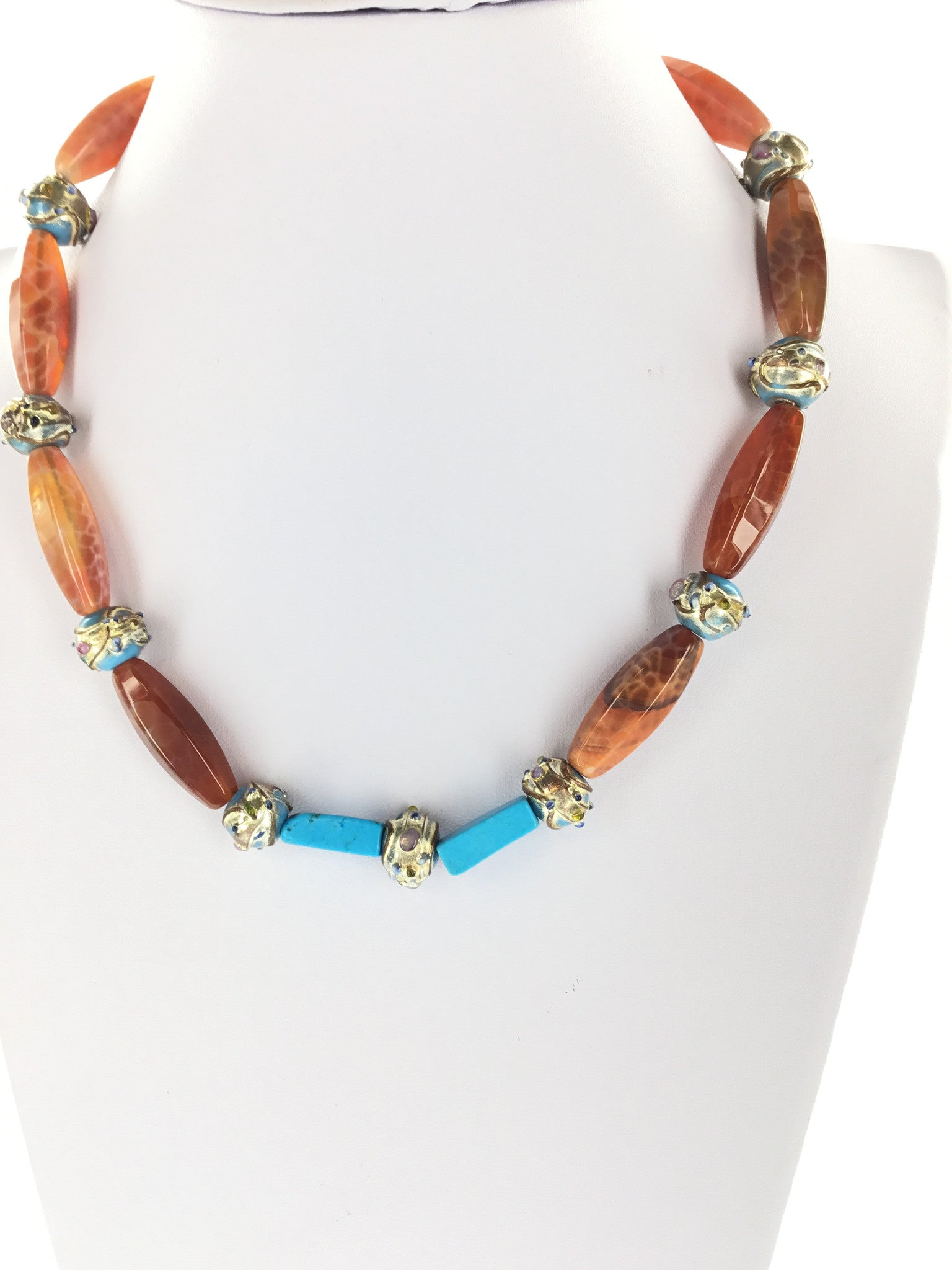 Red Fire Agate Necklace - Real Chic Boutique  - 4