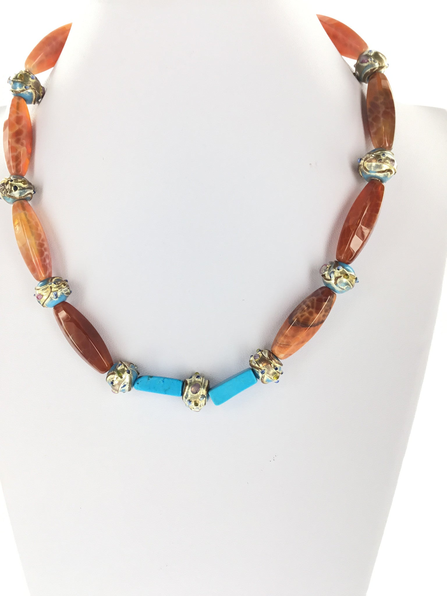 Red Fire Agate Necklace - Real Chic Boutique  - 5