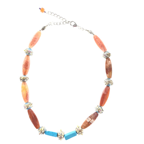 Red Fire Agate Necklace - Real Chic Boutique  - 1