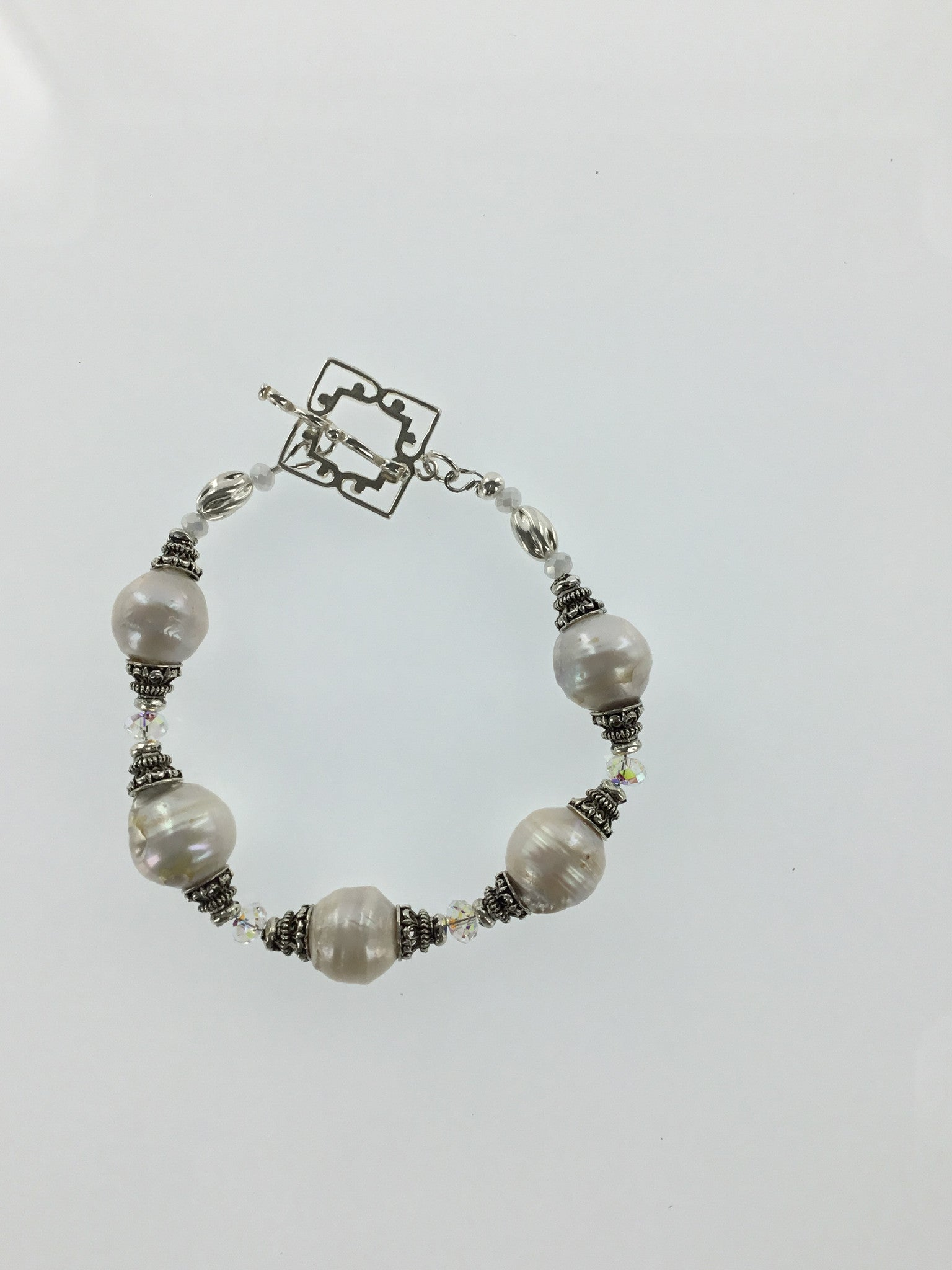 Fresh Water Pearl Bracelet and Swarovski Bracelet - Real Chic Boutique  - 2