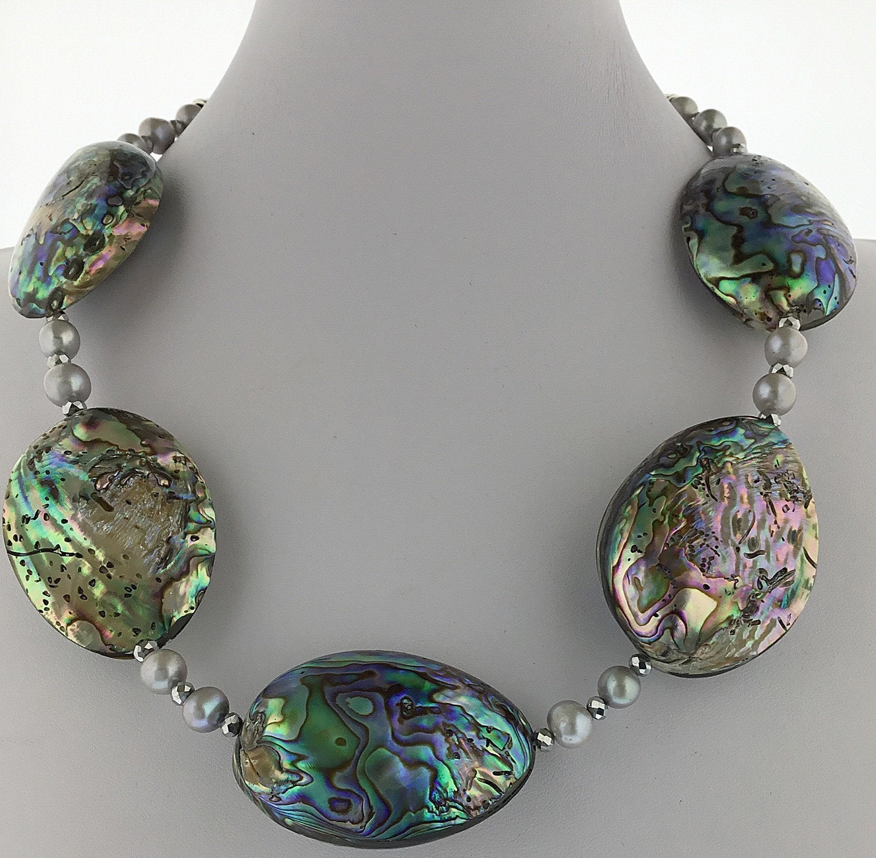 Abalone and Pearl Necklace - Real Chic Boutique  - 2