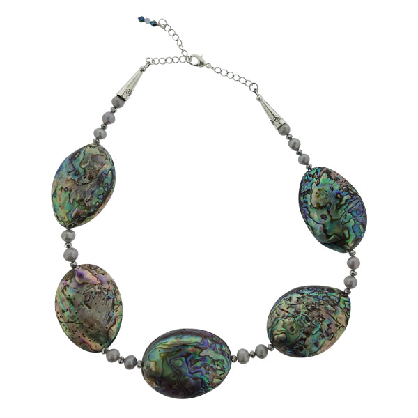 Abalone and Pearl Necklace - Real Chic Boutique  - 1