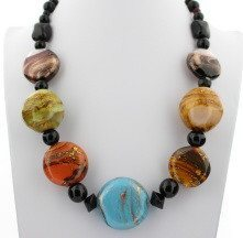 Jewel tone Murano Glass Necklace - Real Chic Boutique  - 2