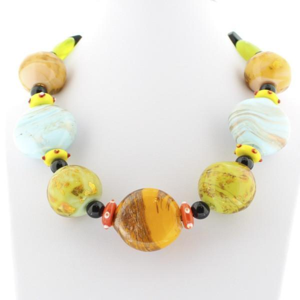 Multi-Color Murano Glass Necklace - Real Chic Boutique  - 2