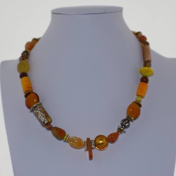Murano Glass Necklace in Hues of Yellow - Real Chic Boutique  - 2
