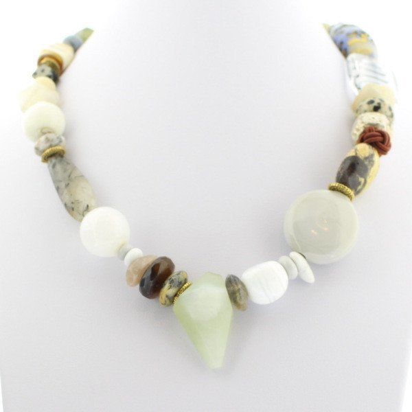 Pastels with Mint Green Murano Glass Necklace - Real Chic Boutique  - 2