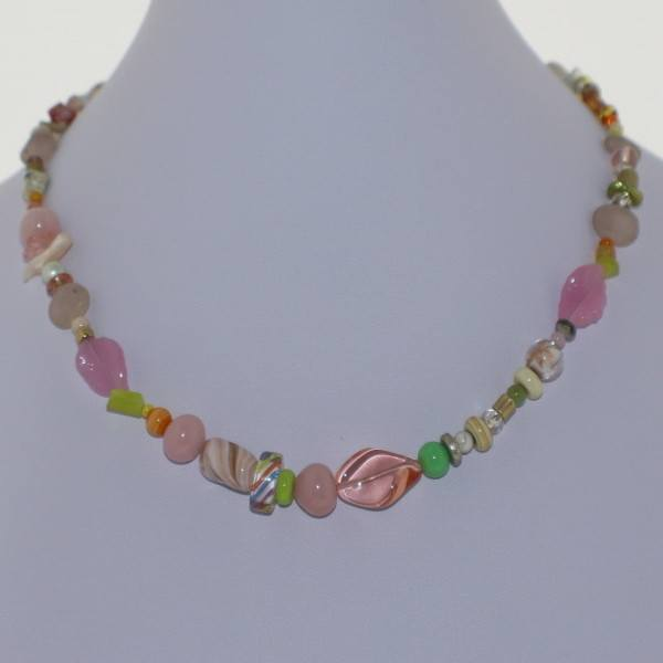 Pink Pastel Murano Glass Necklace - Real Chic Boutique  - 2