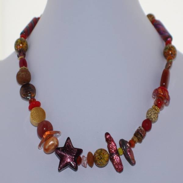 Shades of Red Murano Glass Necklace - Real Chic Boutique  - 2