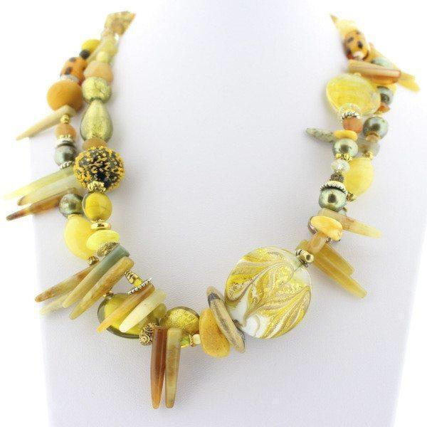 Yellow Murano Glass Necklace - Real Chic Boutique  - 2