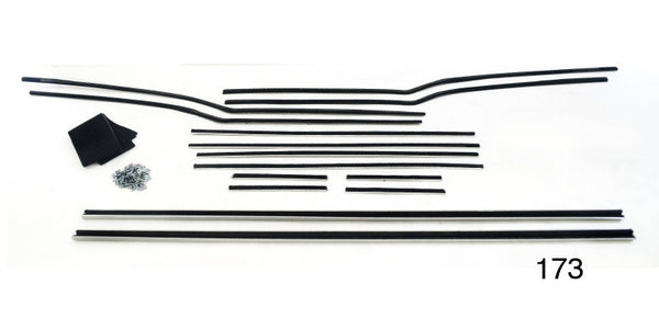 #173 1956-57 Chevy 4 Dr Htp WINDOW FUR CHANNEL KIT