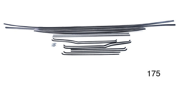 #175  1955-57 Chevy 4 Dr  Sedan WINDOW FUR CHANNEL KIT